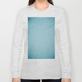 photo with damaged wall texture in soft blue tone ready for art, fashion, furniture, iphone cases Long Sleeve T-shirt