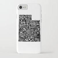 utah iPhone & iPod Cases featuring Typographic Utah by CAPow!