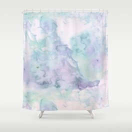 Pastel modern purple lavender hand painted watercolor wash Shower Curtain