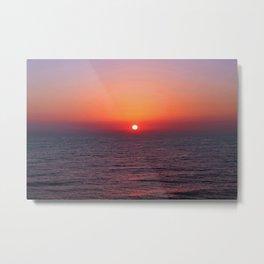 Indigo Sunrise Metal Print