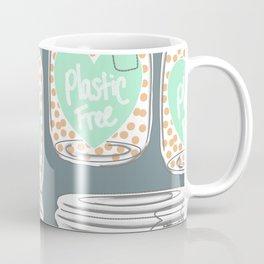 Reducing single use plastic art work Coffee Mug