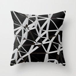 3D Futuristic GEO Lines V Throw Pillow