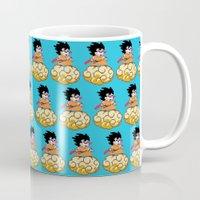 goku Mugs featuring Son Goku by husavendaczek