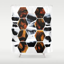 Geo Earth  Shower Curtain