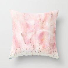 coral skies Throw Pillow