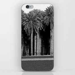 Black & White Date Palms Yuma Pencil Drawing Photo iPhone Skin