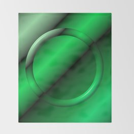 Sage Ring Abstract Throw Blanket