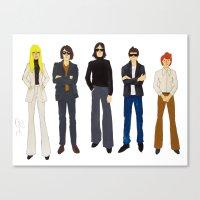 velvet underground Canvas Prints featuring Velvet Underground + Nico by Sarah Zimmer