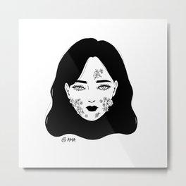 Acne Metal Print