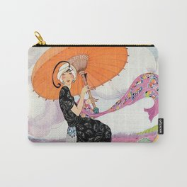 Vintage Magazine Cover - Windy Beach Carry-All Pouch