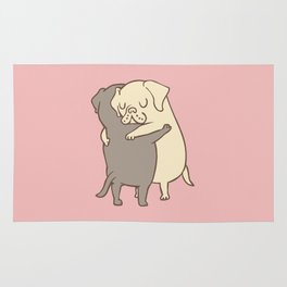 Labrador retriever Hugs Rug