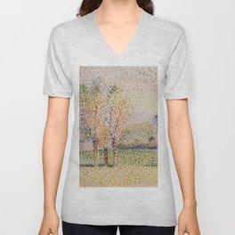 Eragny Landscape By Camille Pissarro | Reproduction | Impressionism Painter Unisex V-Neck