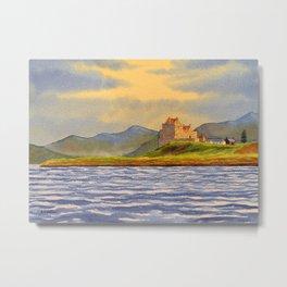 Duart Castle Isle Of Mull Scotland Metal Print