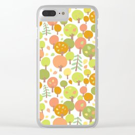 Atumn Forest Pattern Clear iPhone Case