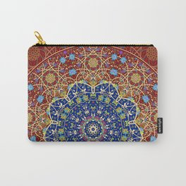 Woven Star in Blue and Red Carry-All Pouch