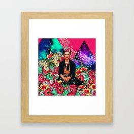 Galaxy Frida Framed Art Print