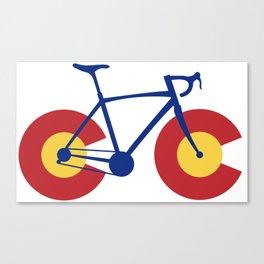 Colorado Flag Bicycle Canvas Print