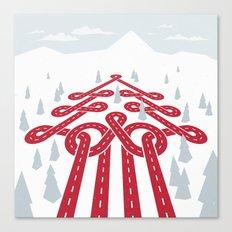 North Pole Position (Winter Raceway) Canvas Print