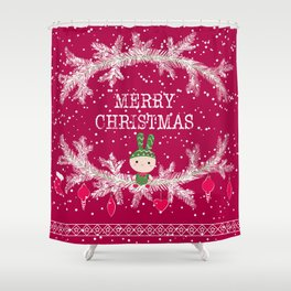 Merry christmas and happy new year 12 Shower Curtain