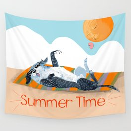 Angel on SummerTime Wall Tapestry