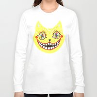 cheshire cat Long Sleeve T-shirts featuring Cheshire Cat by Janna Morton