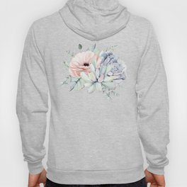 Pretty Succulents by Nature Magick Hoodie