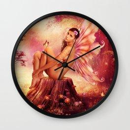 A Fairies Place Wall Clock