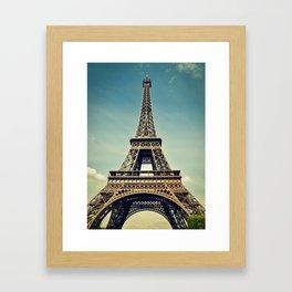 Eiffel Tower- Color Framed Art Print