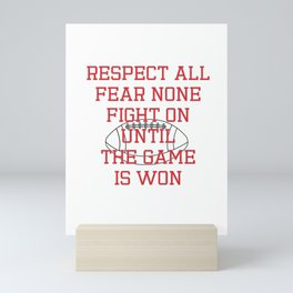 Show Some Respect Tshirt Designs RESPECT ALL Mini Art Print