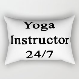 yoga instructor Rectangular Pillow