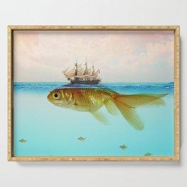 Goldfish Tall Ship Serving Tray