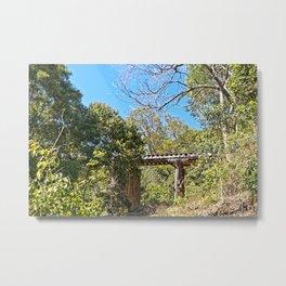 Rustic Railway Bridge Metal Print