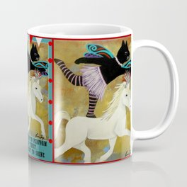 Circus Kitty Riding Horse Coffee Mug