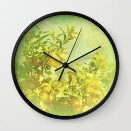 Mandarine Tree Wall Clock