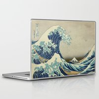 xbox Laptop & iPad Skins featuring The Great Wave off Kanagawa by Palazzo Art Gallery