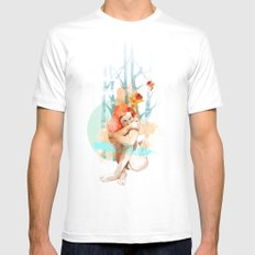 Lonely Mens Fitted Tee MEDIUM White