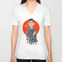 pacific rim V-neck T-shirts featuring Herman Gottlieb Pacific Rim by TheDigitalPandora
