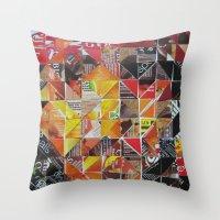 jack sparrow Throw Pillows featuring Jack Sparrow by Ruud van Koningsbrugge