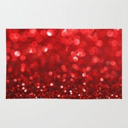 Ruby Red Disco Glitter & Sparkles Rug
