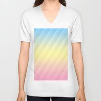 pastel V-neck T-shirts featuring Pastel by Rebecka R