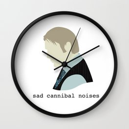 Sad Cannibal Noises Wall Clock