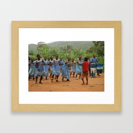 Welcoming Ceremony: Nkuv, Cameroon  Framed Art Print