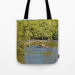 Beautiful river in the tropics Tote Bag