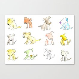Little Cute Dogs Canvas Print