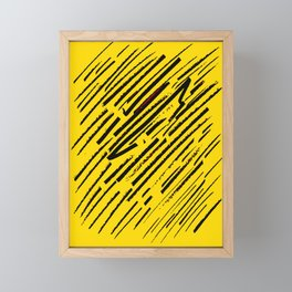 Yellow intention Framed Mini Art Print