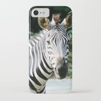 striped iPhone & iPod Cases featuring Striped by maisie ong