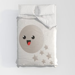 Happy cute moon Comforters