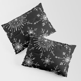 Winter Wonderland Snowflakes Black and White Pillow Sham