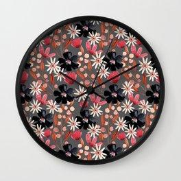 Kaitlyn Watercolor Flowers No. 2 Wall Clock