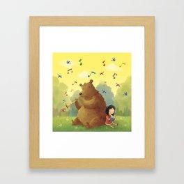 Friend Bear Framed Art Print